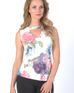 CYNTHIA Sleeveless Top - Cut out