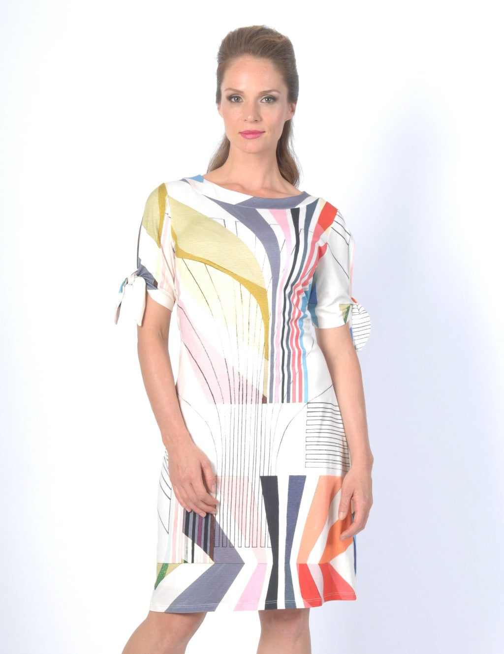 KALEIDOSCOPE Shift Dress Elbow Sleeve