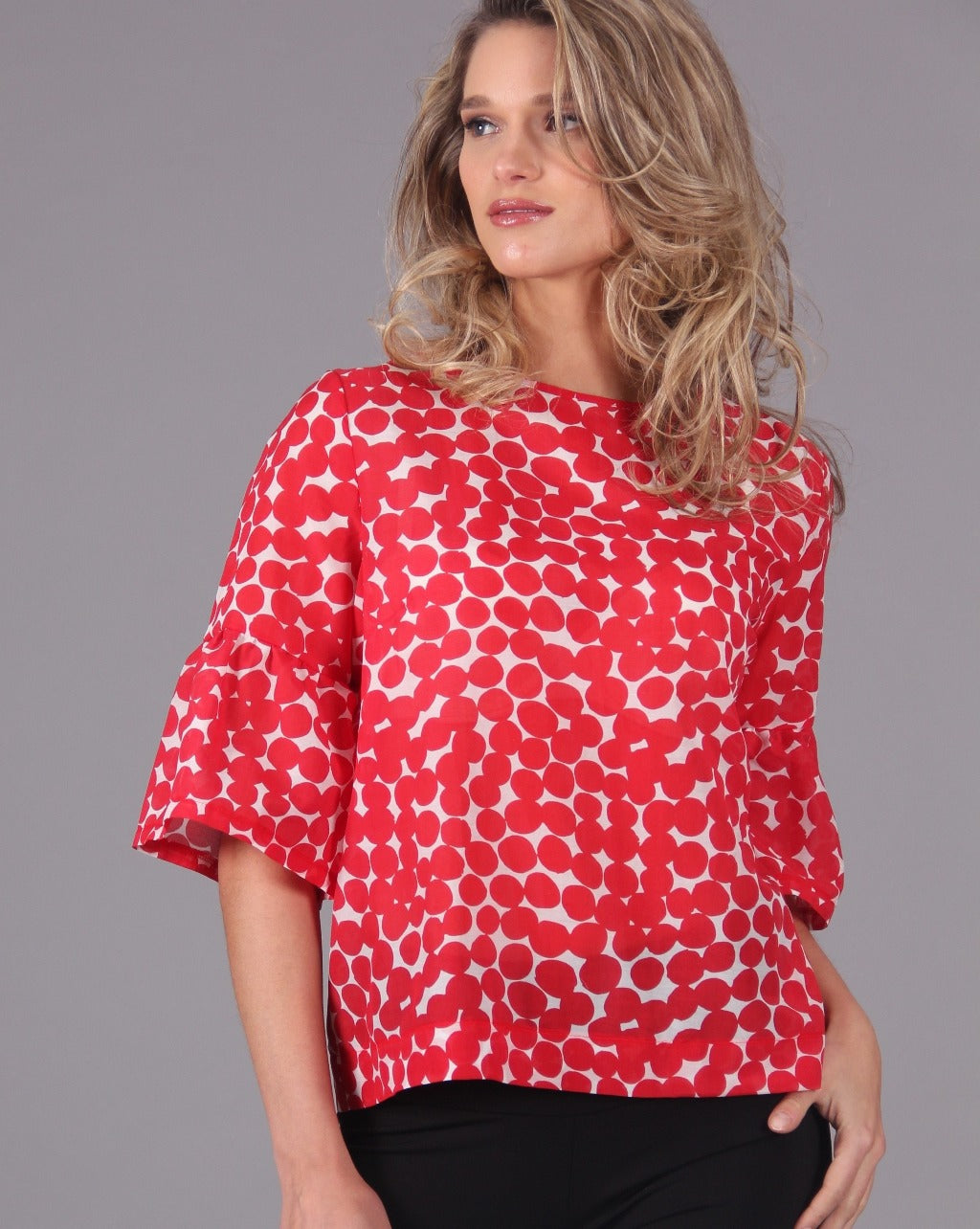 DITEFUL Top in Printed Cotton Silk - Final Sale