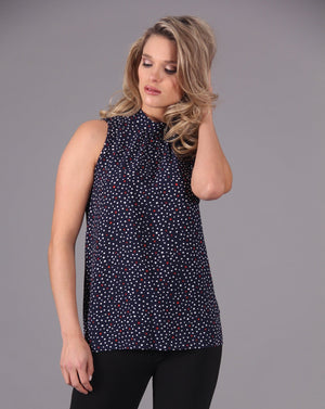 PEBBLE CREPE Print Top