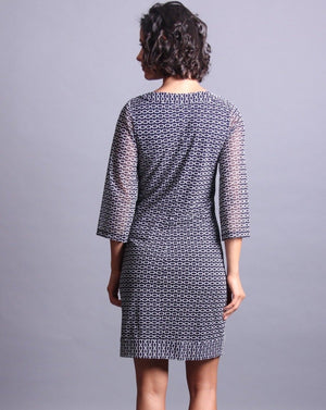 HERMES 3/4 Sleeve Shift Dress