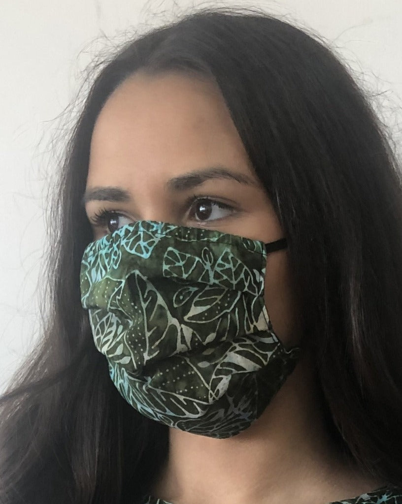 XS - BATIK JUNGLE LEAVES Face Mask Reversible