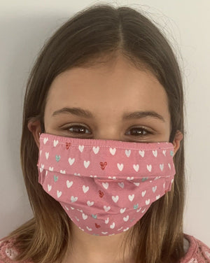 XS - HEARTS  Face Mask Reversible