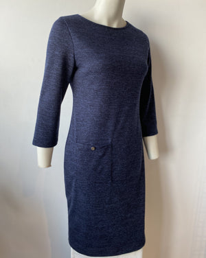 PEGGY Shift Dress in Navy