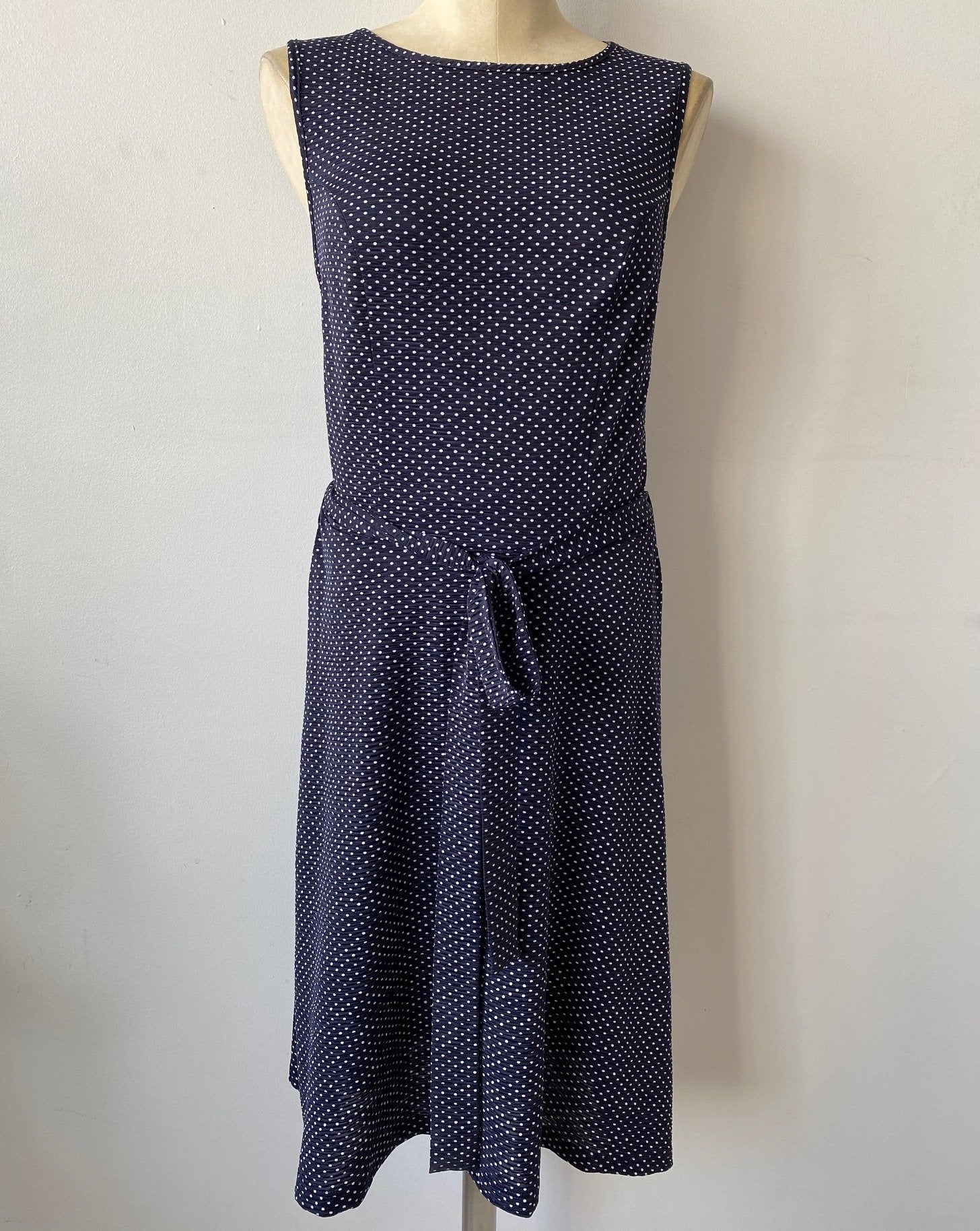 VINTAGE DOTS Fit and Flare Dress