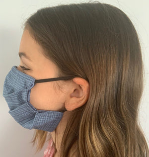 XS - INDIGO Face Mask Reversible