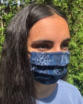 XS - SAILOR Face Mask Reversible