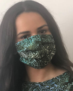 XS - BATIK JUNGLE LEAVES Face Mask Reversible - NEW