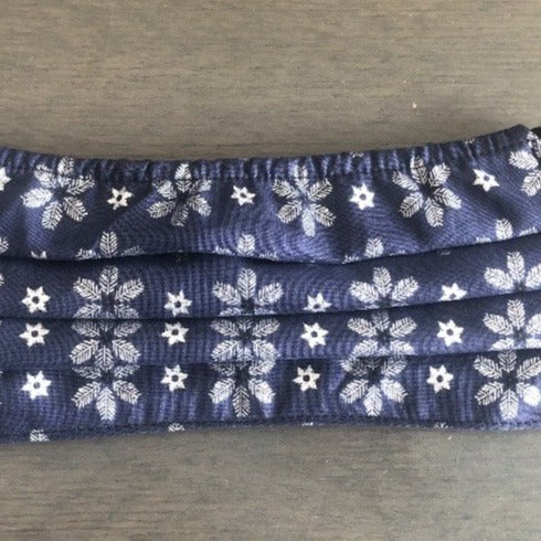 XS - SNOWFLAKE Face Mask Reversible - NEW