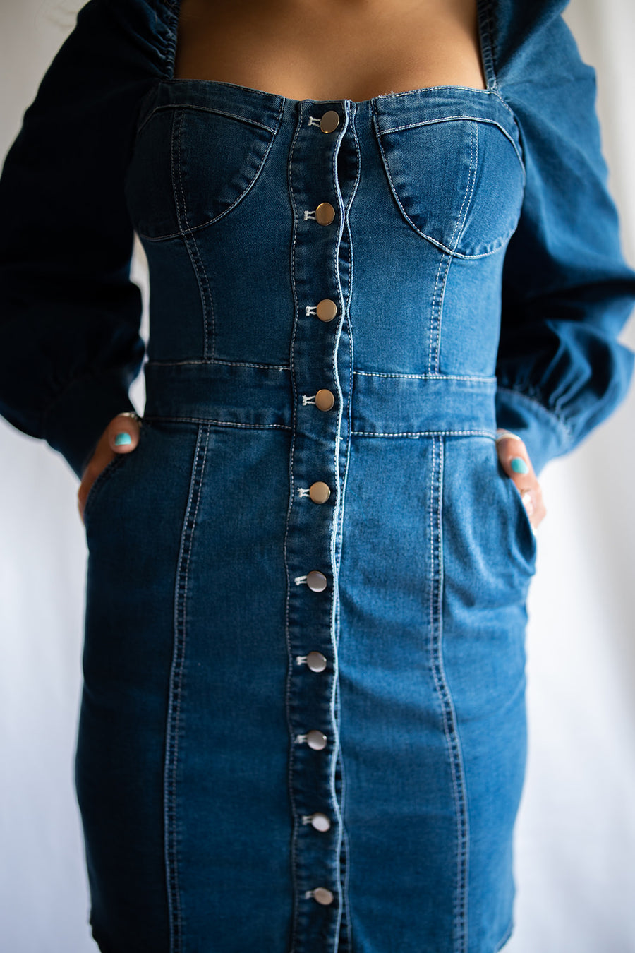 ADORE YOU DENIM DRESS