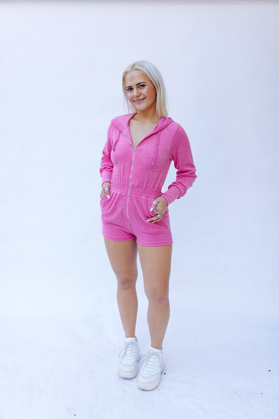 HOLLABACK GIRL ONE PIECE IN PINK