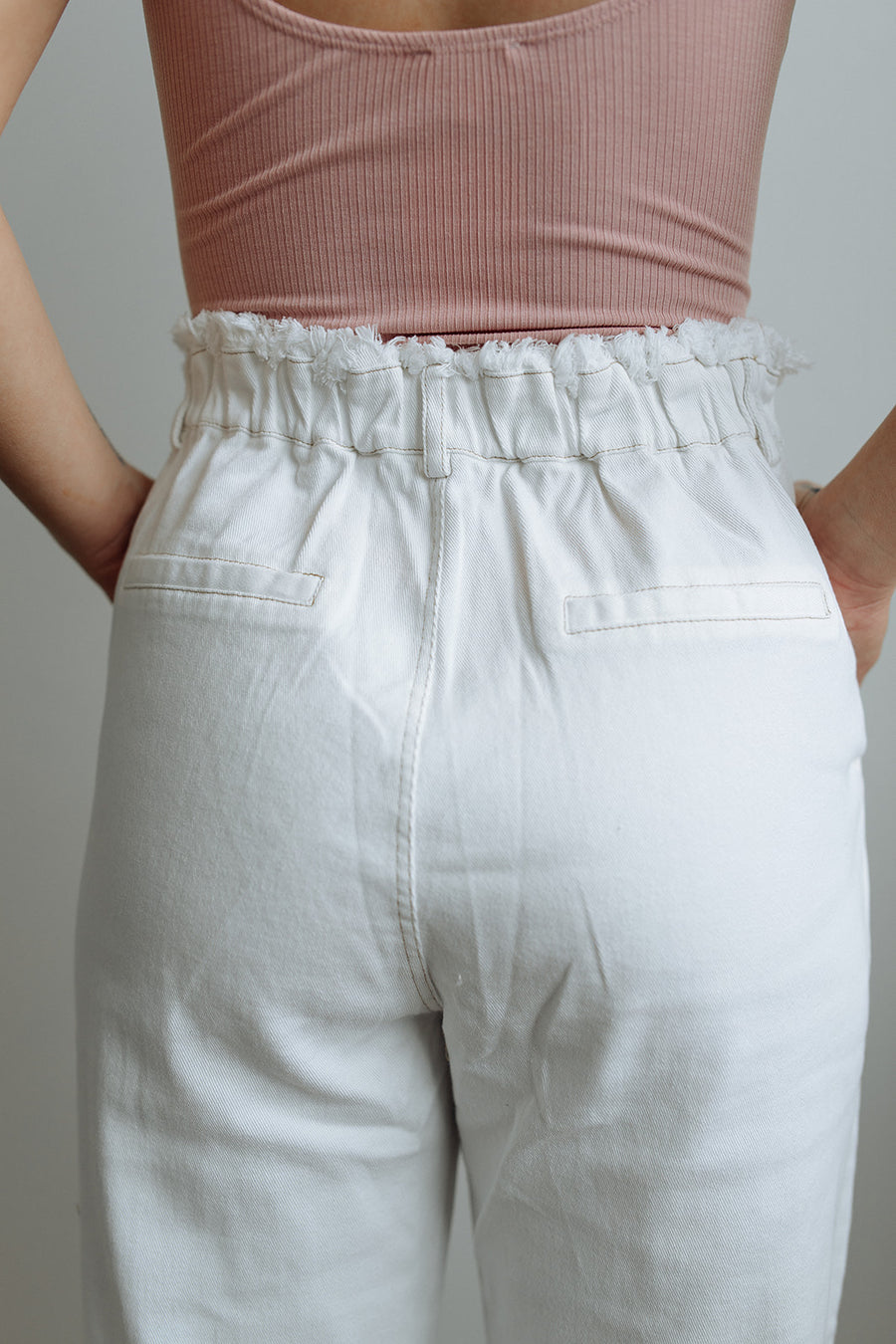 WHITE DENIM BOTTOMS