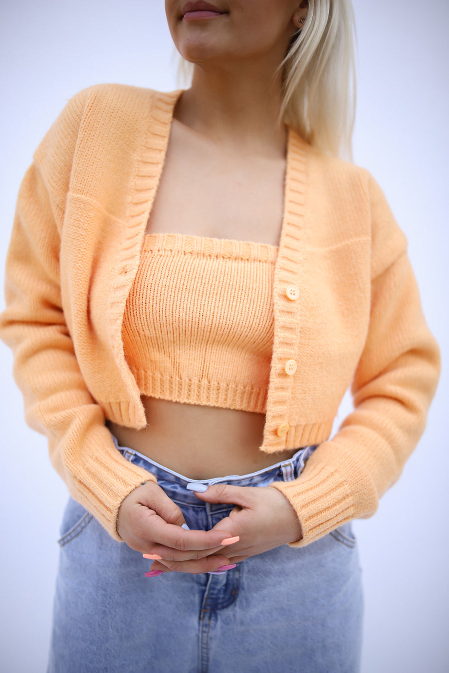 PEACHY DREAMS SWEATER SET