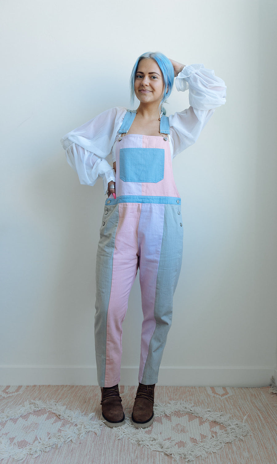 COLOR BLOCK OVERALLS