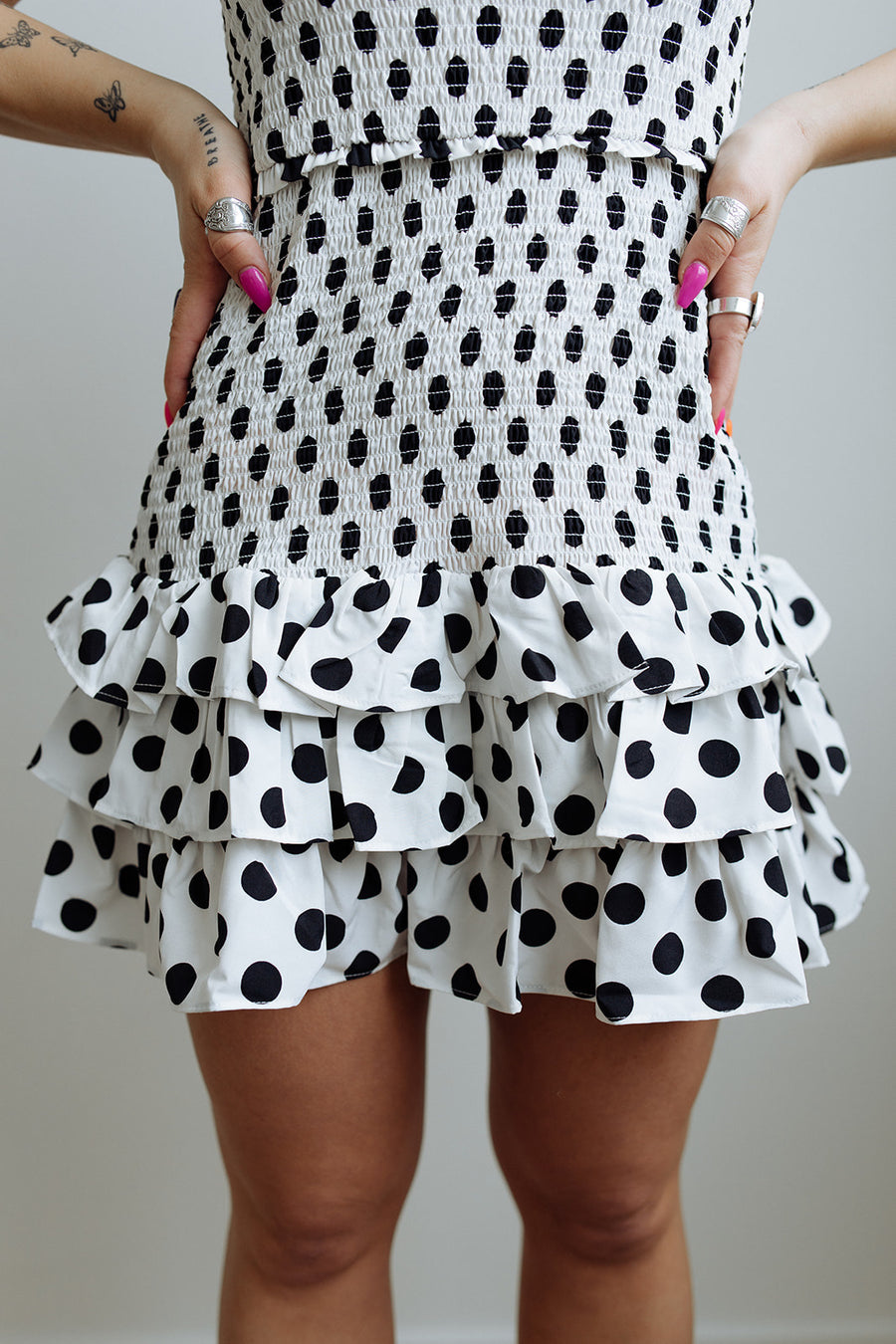 PRETTY IN POLKA DOTS DRESS