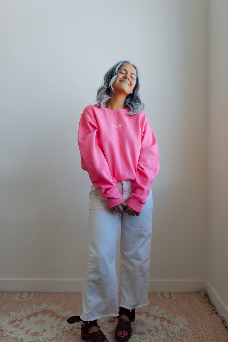 BABY PINK CREW NECK IN PINK