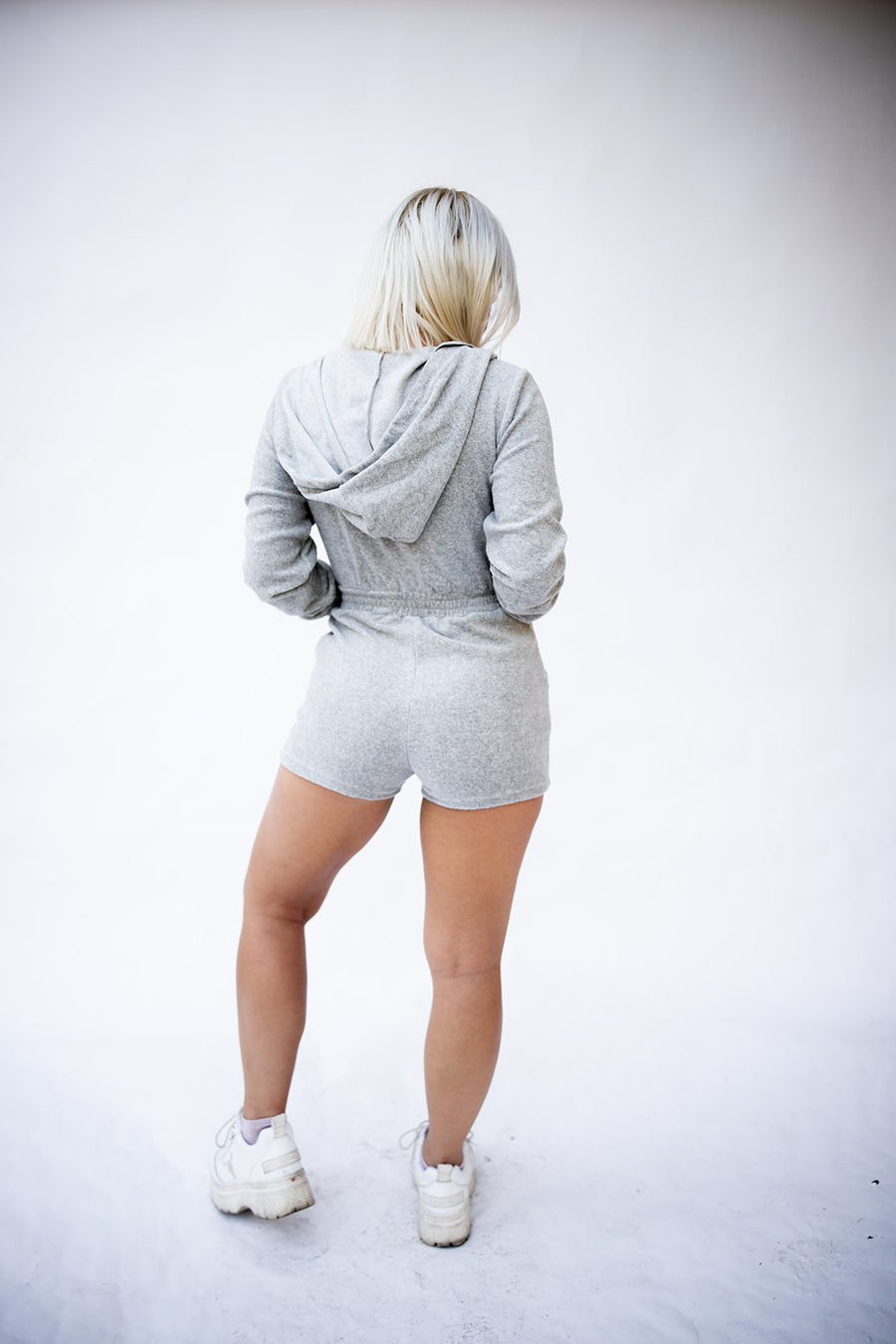 HOLLABACK GIRL ONE PIECE IN GREY