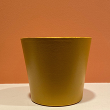 Load image into Gallery viewer, Modern / Minimalist - Matte - Hand-Painted Terra-Cotta Clay Pot - Golden Harvest