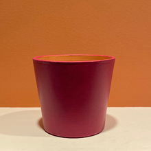 Load image into Gallery viewer, Modern / Minimalist - Matte - Hand-Painted Terra-Cotta Clay Pot - Gypsy Berry