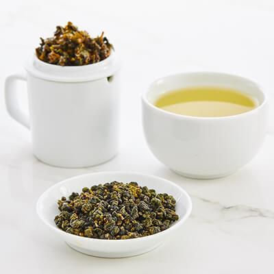 Tea tasting set with milk oolong tea