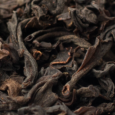 close up of loose leaf English Breakfast black tea