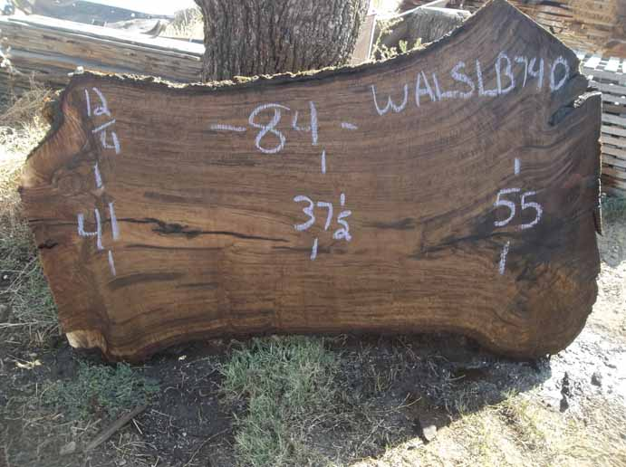 Walnut Slab WALSLB74D