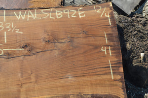 Walnut Slab WALSLB92E