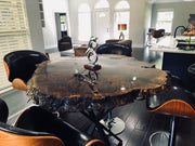 Walnut Burl Round Table