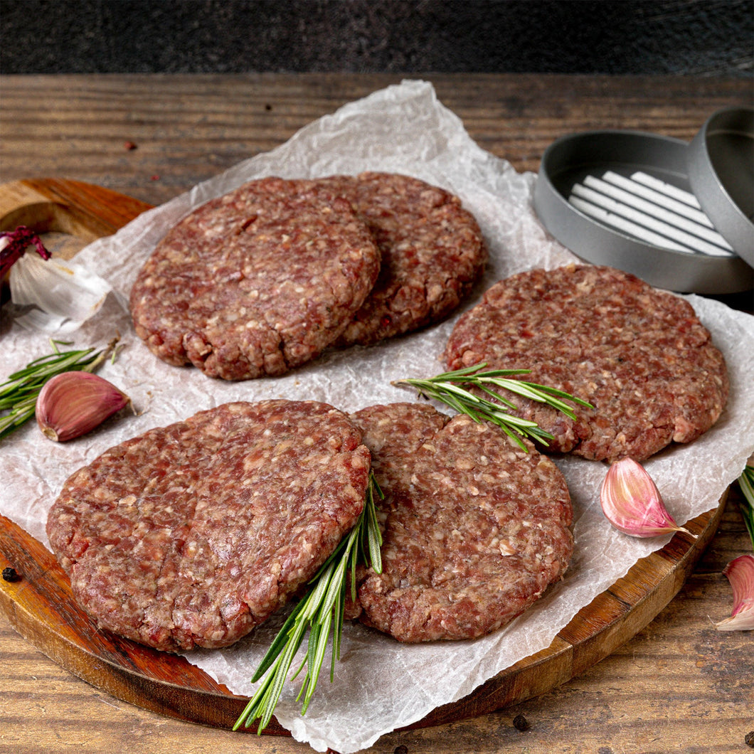 Handmade Moroccan Spiced Lamb Burgers