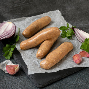 Cheese and Marmite Pork Sausages