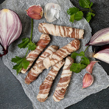 Load image into Gallery viewer, Pigs in Blankets - Gramps's Pork Chipolatas wrapped in Smoked Pancetta