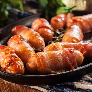 Pigs in Blankets - Gramps's Pork Chipolatas wrapped in Smoked Pancetta