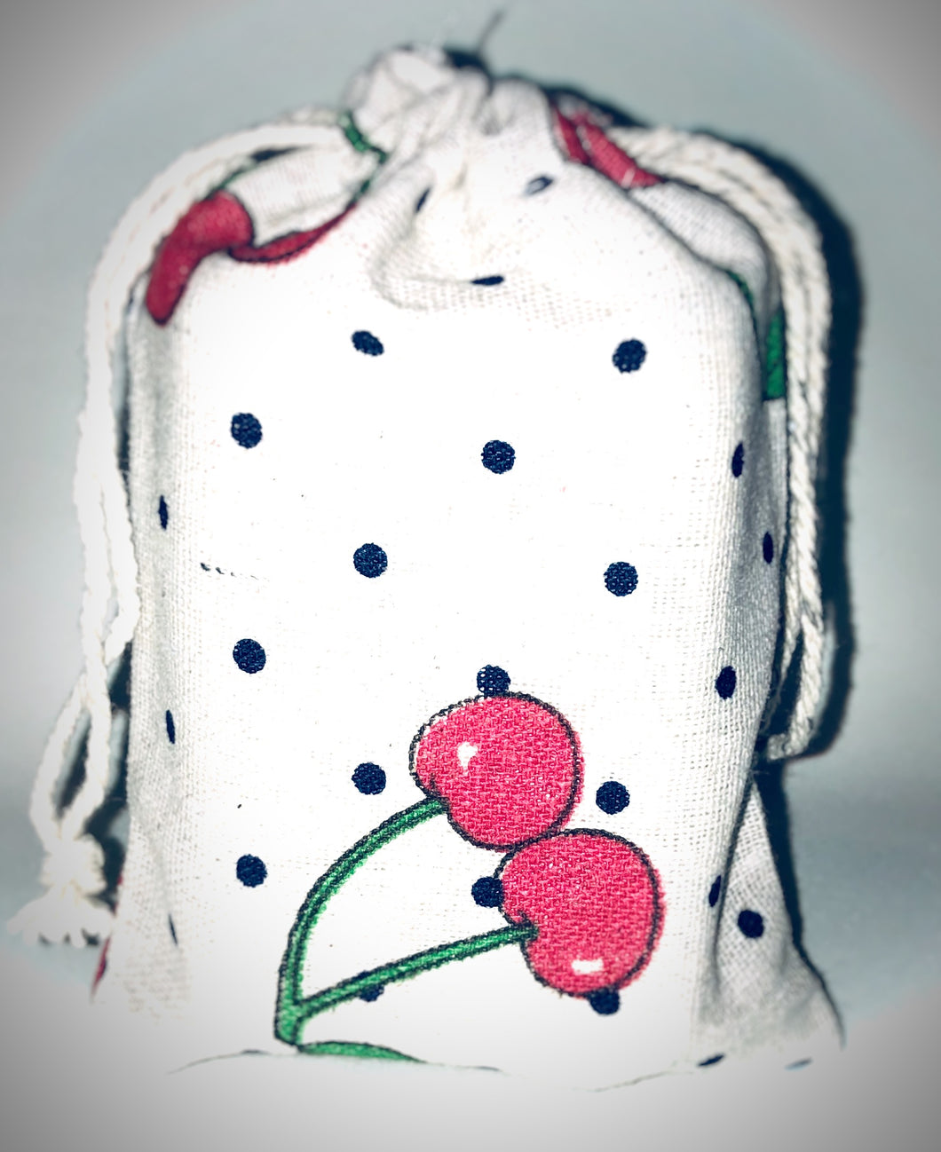 Cherry Polka Soap Bag