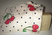 Load image into Gallery viewer, Cherry Polka Soap Bag