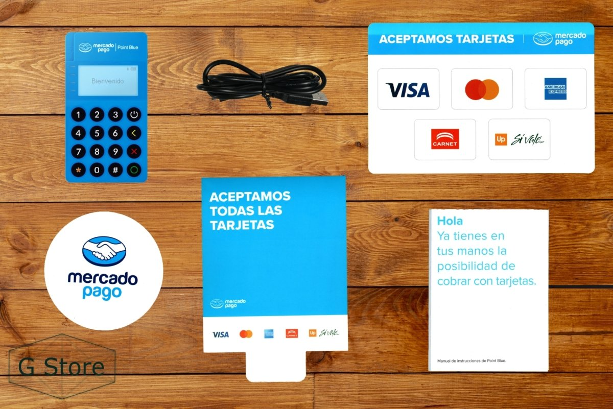 Point Blue - Lector De Tarjetas Mercado Pago Bluetooth - G Store