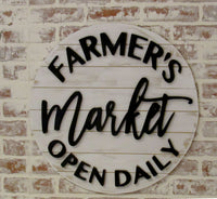 Farmers Market Open Daily Sign