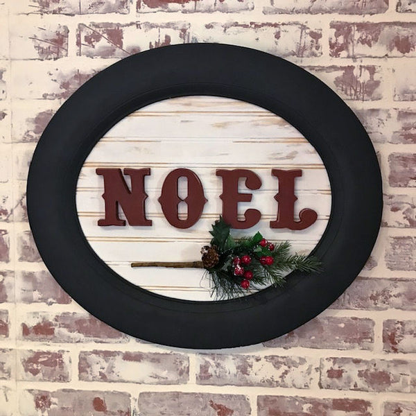 Noel Oval Sign - One of a Kind!