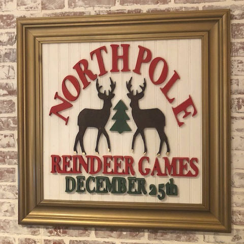 North Pole Games Sign