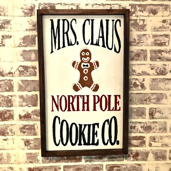 North Pole Cookies Engraved Sign
