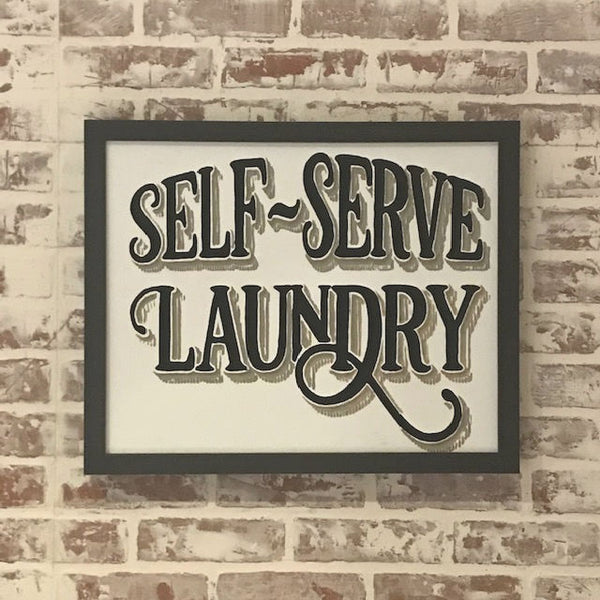 Self Serve Laundry Sign
