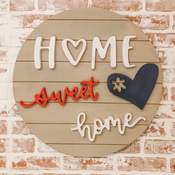 The Patriotic Sweet Home Sign