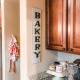The Bakery Door Sign