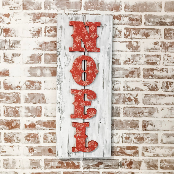 Noel Double Barnwood Sign
