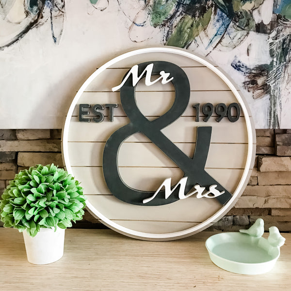 The Modern Mr. & Mrs. Sign