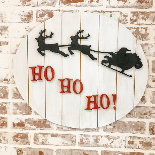 Ho Ho Ho Wood Sign