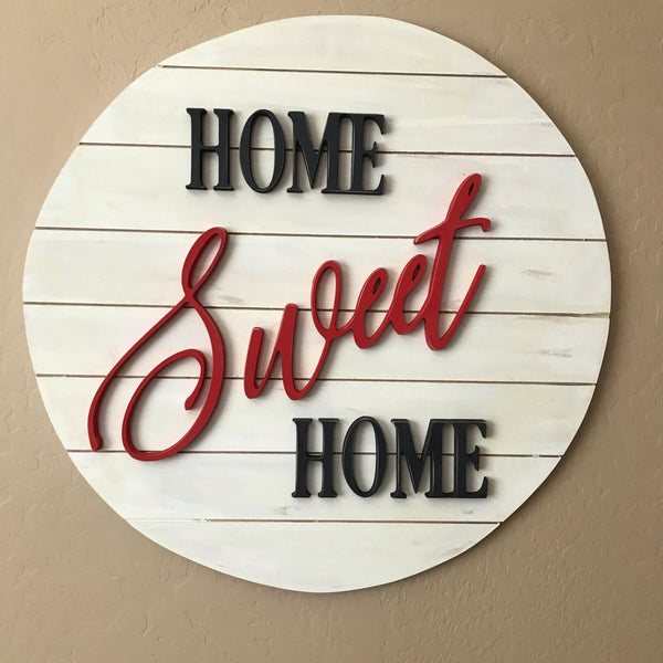 Heritage Home Sweet Home Sign