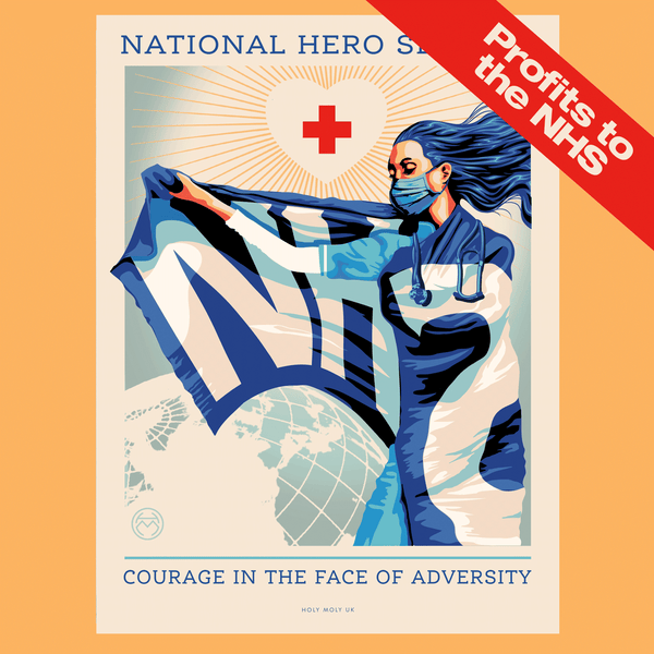 National Hero Service (Remix) A3 Standard print - Holy Moly UK