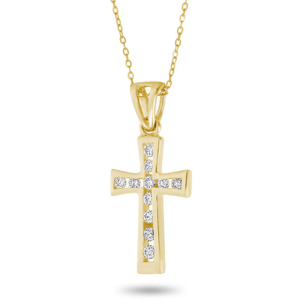 Cross Outline Necklace
