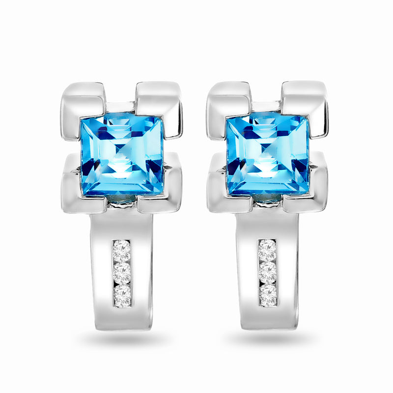 Topaz English Lock Earrings