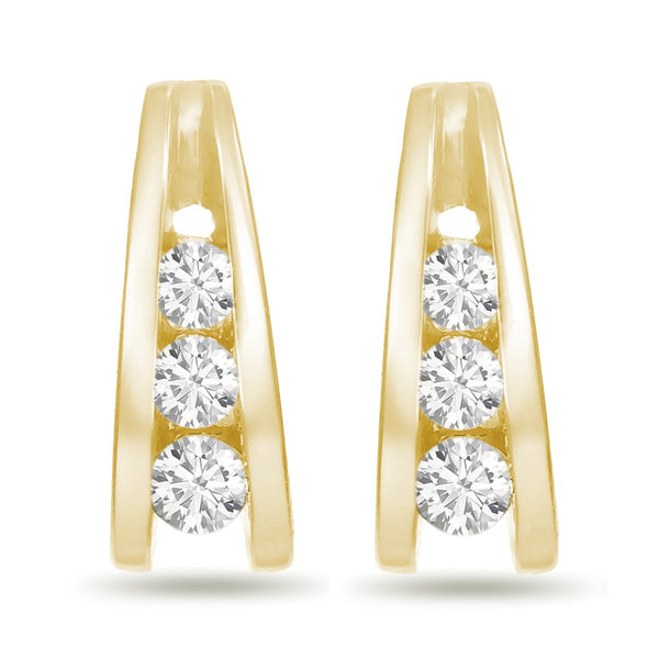 Stacked Diamond Studs